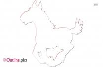 Little Pony Running Outline