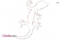 Lizard Drawing Outline Sketch