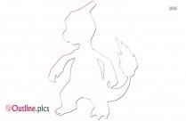 Lizard Pokemon Outline Sketch