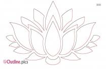 Lotus Flower Outline