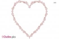 Love Heart Border Outline Free Vector Art