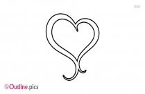 Love Heart Outline Image Printable