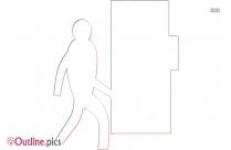 Main Entrance Outline Clip Art