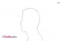 Male Head Profile Outline