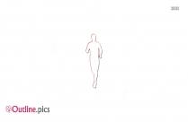 Athlete Running Outline Vector