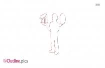 Man Juggling Outline Illustration
