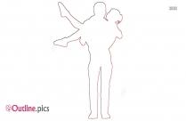 cartoon couple outline image