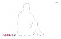 Man Sitting Outline Image