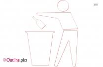 Trash Bin Outline Image
