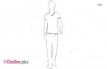 Man Walking Outline