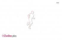 Outline Runner Male