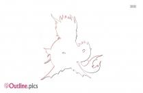 Image Mermaid Dragon Outline