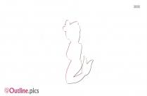 Cute Mermaid Sticker Outline Image