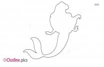 Mermaid Outline Tattoo
