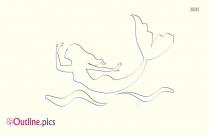 Mermaid Clipart Outline