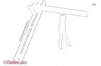Metal Monkey Bars Outline Sketch