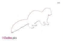 Mink Clip Art Outline