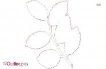 Mint Leaves Outline Free Vector Art