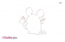 Mouse Pokemon Outline