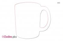 Mug Transparent PNG Outline