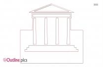 Museum Clip Art Outline Image