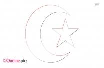Muslim Religious Symbol Outline