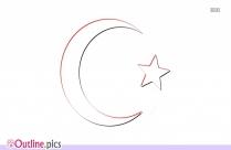 Muslim Symbol Outline