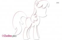 My Little Pony Black Outline Image
