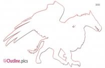 Mythological Creature Outline