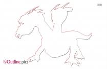 Mythological Creature Outline Sketch