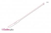 Naginata Japanese Spear Blade Outline