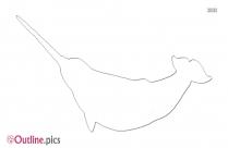 Narwhal Tusk Outline Sketch