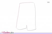 Nike Kids Shorts Outline