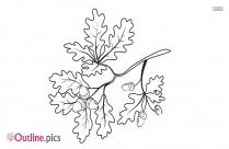 Leaf Vine Outline Art