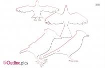 Outline Of Singing Bird