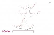 Olympic Gymnastics Outline Sketch