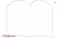 Open Book Outline Illustration