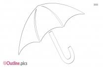Black Umbrella Outline Image