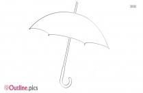 Black Umbrella Cartoon Outline Image