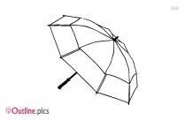 Pattern Umbrella Outline Design