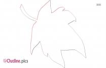 Simple Leaf Vector Outline