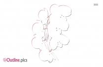 Flower Plant Outline Clip Art