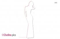 Girl Dress Vector Outline