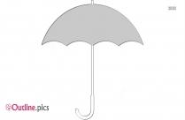 Umbrella Hello Kitty Outline Image