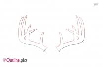 Outline Of Deer Antler