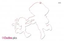Dora The Explorer Outline Drawing