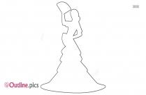 flamenco dancer outline vector image