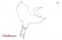 Cartoon Small Bird Outline