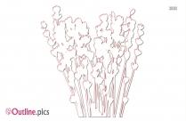 Outline Of Lavender Flowers