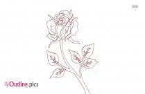 Floral Outline Wallpaper